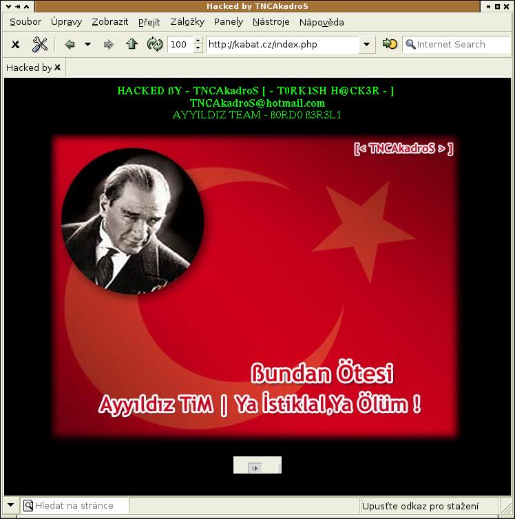 image of Kabát cz hacked
