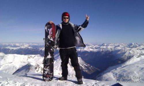 image of Snowboarding v Alpách 2011