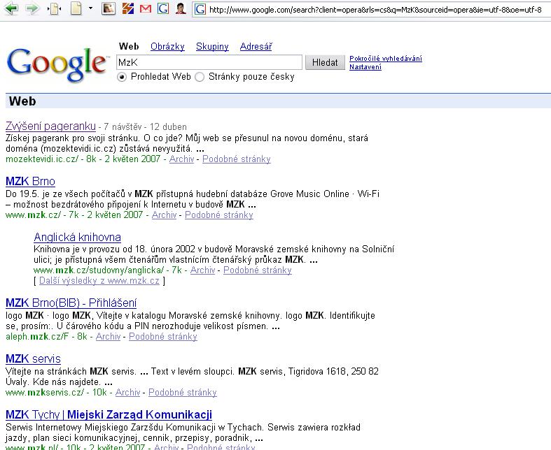 MzK google bomba