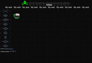 první web frontpage